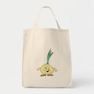 happy silly onion cartoon canvas bag