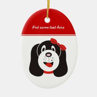 Happy silly puppy custom ornament