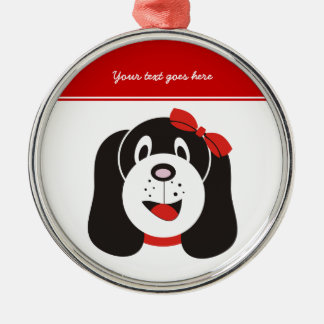 Happy silly puppy custom ornament