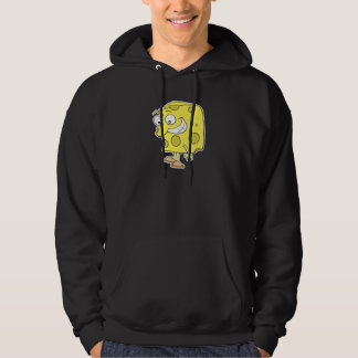 happy silly swiss cheese cartoon hoodie