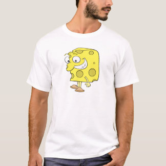 happy silly swiss cheese cartoon T-Shirt