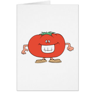 happy silly tomato cartoon greeting card