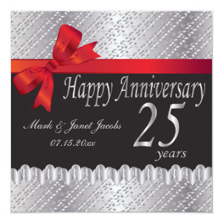 Happy Silver Anniversary | 25 Years Card