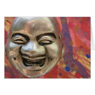 Happy Silver Buddha Greeting Card