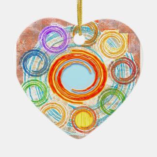 HAPPY Simple Art for your JOY. Ornament