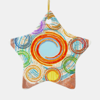 HAPPY Simple Art for your JOY. Christmas Tree Ornaments