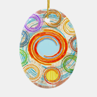 HAPPY Simple Art for your JOY. Christmas Ornament