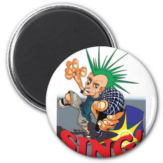 Happy Sing! 2 Inch Round Magnet