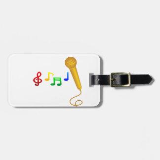 Happy Singing Music Karaoke Luggage Tags