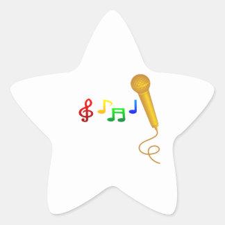 Happy Singing Music Karaoke Star Stickers