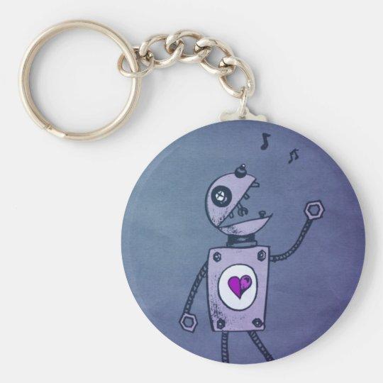 Happy Singing Robot Keychain