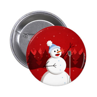 Happy Singing Snowman Christmas Pins