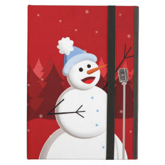 Happy Singing Snowman Christmas Kickstand iPad Air Cover