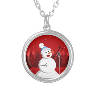 Happy Singing Snowman Christmas Custom Jewelry