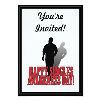 HAPPY SINGLES AWARENESS DAY - Man Personalized Invitations