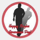 Happy Singles Awareness Day! Round Sticker
