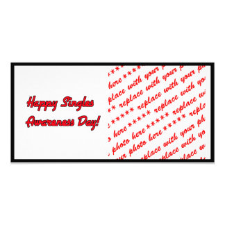 Happy Singles Awareness Day Text Design Personalized Photo Card