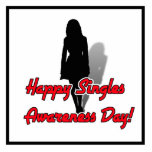 Happy Singles Awareness Day Woman Cut Out