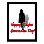 Happy Singles Awareness Day Woman Postcard
