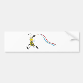 Happy Sister Bee Running Bumper Sticker