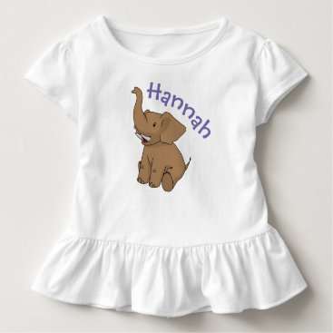 kellygalloway Happy Sitting Elephant Personalized Child's Shirt
