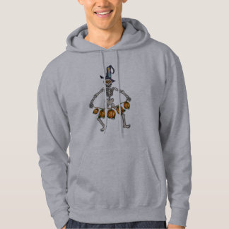 HAPPY SKELETON & JACK GARLAND by SHARON SHARPE Hoodie
