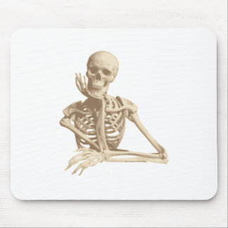 Happy Skeleton Mouse Pads