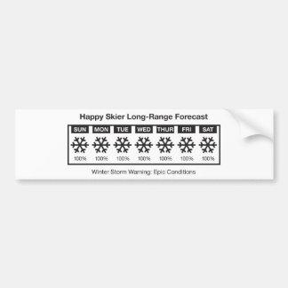Happy Skier Forecast Bumper Sticker