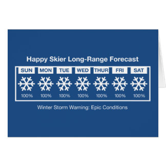 Happy Skier Forecast Card