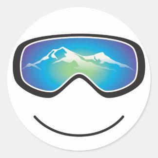 Happy Skier/Snowboarder Sticker