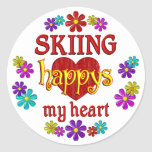 Happy Skiing Sticker