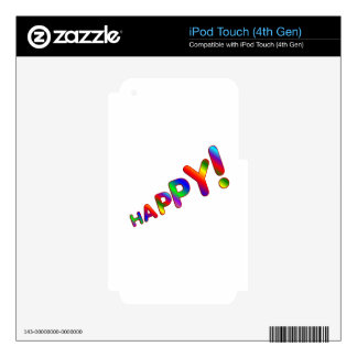 HAPPY! iPod TOUCH 4G SKIN
