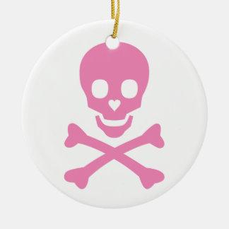 Happy Skull Ceramic Ornament