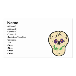 happy skull copy business card template