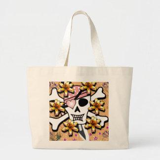 Happy Skull Large Tote Bag