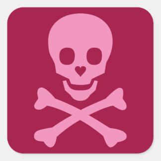 Happy Skull Square Sticker