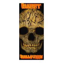 artsprojekt, skull, tattoo, happy halloween, halloween, scary, drumbeat, bugle call, allhallows eve, hallowe'en, bone, Convite com design gráfico personalizado