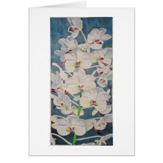 happy sky summer orchids greeting card