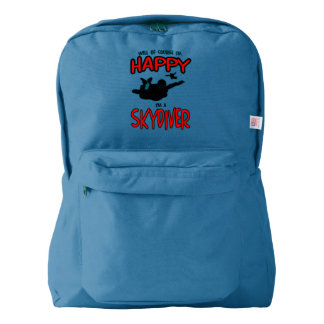 Happy Skydiver (blk) Backpack