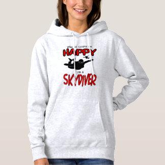 Happy Skydiver (blk) Hoodie
