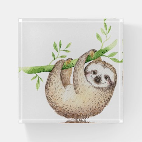 Happy Sloth Paperweight