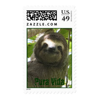 Happy Sloth Postage Stamp