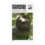 Happy Sloth Postage Stamp