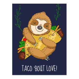 Happy Sloth Taco Bout Love Valentine Postcard