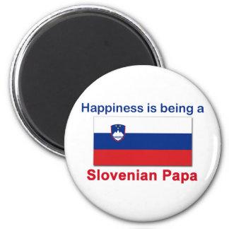 Happy Slovenian Papa 2 Inch Round Magnet