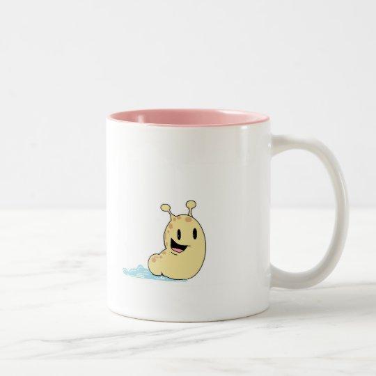 happy slug Two-Tone coffee mug