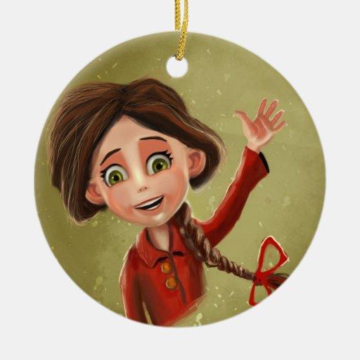 happy smile girl Ornament