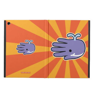 Happy Smile  Purple Whale iPad Air Cover