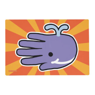 Happy Smile Purple Whale Placemat