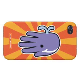 Happy Smile Whale iPhone 4 Cover